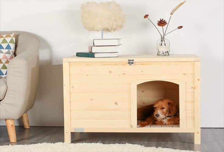 Hundehaus für den Innenbereich aus Holz für kleine Hund